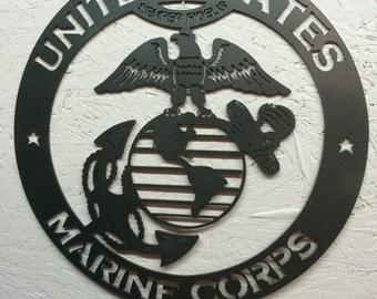 US Marine Corps Metal art