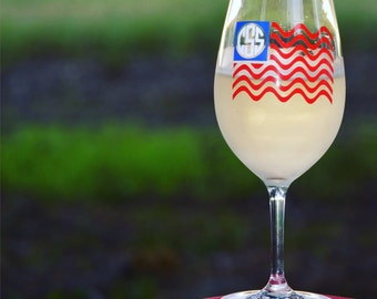 Patriotic Acrylic Wine Glass - 22 oz - personalized outdoor wine glass - USA - Fourth of July
