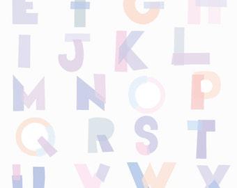 Alphabet Print A3