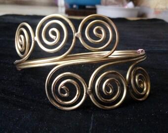 Armlet, arm cuff, spiral Armlet, Gypsy Armlet,