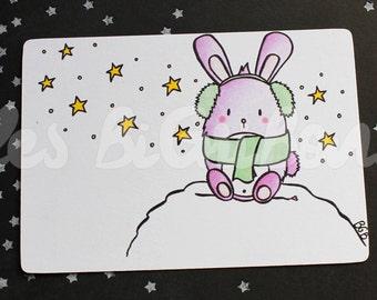 Small rabbit greeting card