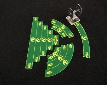 Star Wars X-Wing compatible movement templates