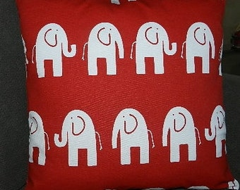 7 Sizes Available - Elephant Lipstick/White  Pillow Cover  Decorative Pillow  Accent Pillow Cover