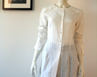 Tunic blouse 100% linen made in Germany summer festival look or elegant pumps over size size 36