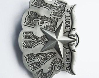 Lone Star Texas Bull Horn Western Metal Fashion Belt Buckle