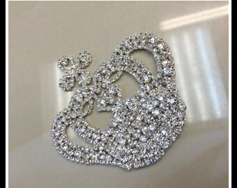 Rhinestone Crown Applique #0333
