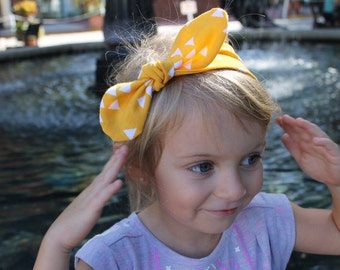 Goldenrod Top Knot- top knot, girl headband, toddler headband, baby headband, fall outfit, fall accessories, fall top knot, yellow headband