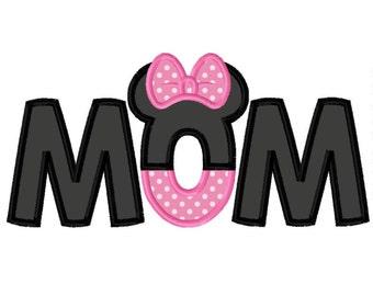 Ms Mouse Mom Applique Design