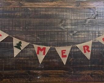 Burlap Christmas Banner
