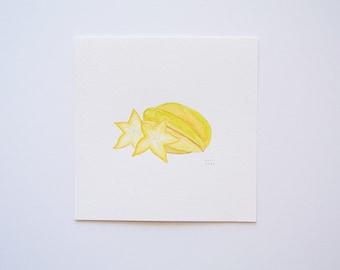 Starfruit (original watercolor painting)
