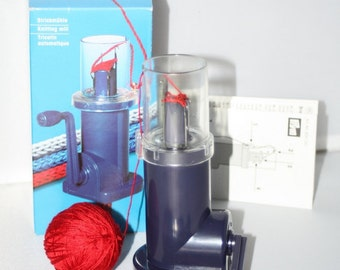 Prym Hand Knitting Mill Machine, i cord maker, semi automatic knitting dolly, Knitting Nancy, Strickmühle, Tricotin automatique