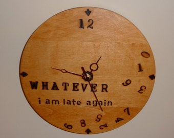 Hand made wood clock