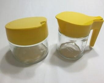 Yellow Gemco Sugar and Creamer