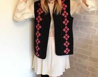 70's Patchwork Quilted Waistcoat