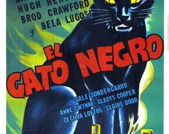 THE BLACK CAT Movie Poster 1941 Bela Lugosi Horror Classic