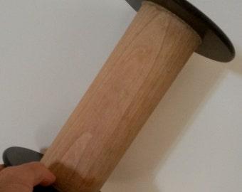 Large Wooden Spool, Wabi Sabi Interior, Large Wooden Reel, Industrial Thread Reels