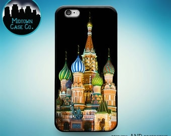 St. Basil's Cathedral Moscow Russia Rubber Case iPhone 6s Plus iPhone 6 Plus iPhone 6s iPhone 6 iPhone 5s iPhone 5 iPhone 5c iPhone SE