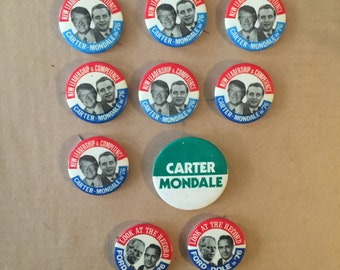 10 1976 Presidential Buttons