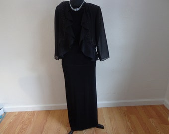 Classy Vintage 3 Piece Evening/Casual Jacket - Skirt-Top
