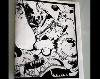 Coloring for Badasses Vol. 1: Fangs 'n Fur, 'zine/mini comic/babysitting book
