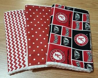 Alabama Burp Cloths- baby shower gift, Boutique Style, Roll Tide, Gender Neutral,burpcloth