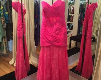 Pink Prom Dress Corset Back