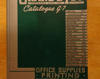Grand & Toy 1942 office supply catalogue 194 page in excellent condition