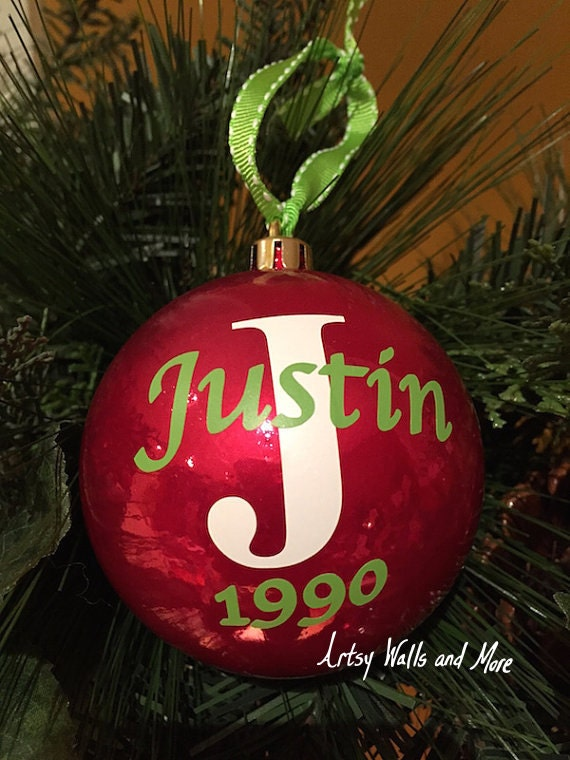 Personalized Christmas Ornament Ball Name and by ...