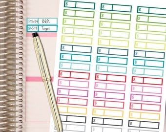 Planner Stickers - Spending Tracker