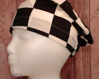 Surgical Scrub hat, Scrub cap, chemo caps, hats, checkerd bouffant