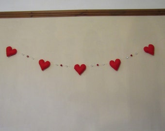 Floating heart and bead bunting.