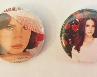 "1"" Lana Del Rey Pin back buttons"