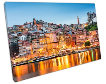 Porto Portugal on the Douro RIVER Canvas WALL ART C2481