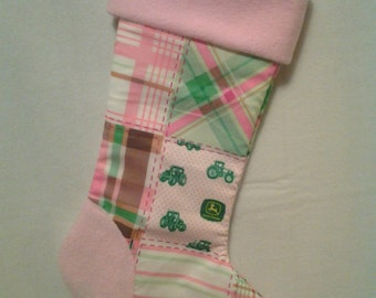 Pink John Deere Stocking