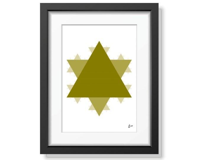 Koch star 04 [mathematical abstract art print, unframed] A4/A3 sizes