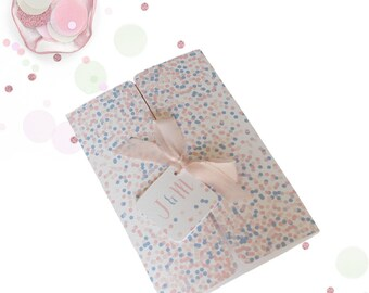 Confetti Gatefold Wedding Invitation