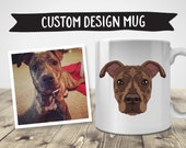 Custom Design Mug | Pet Illustration | Custom Pet Portrait | Dog Illustration | Custom Dog Portrait | Personalized Mug | Dog Mug