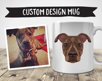 Custom Design Mug | Pet Illustration | Custom Pet Portrait | Dog Illustration | Custom Dog Portrait | Personalized Mug | Dog Mug
