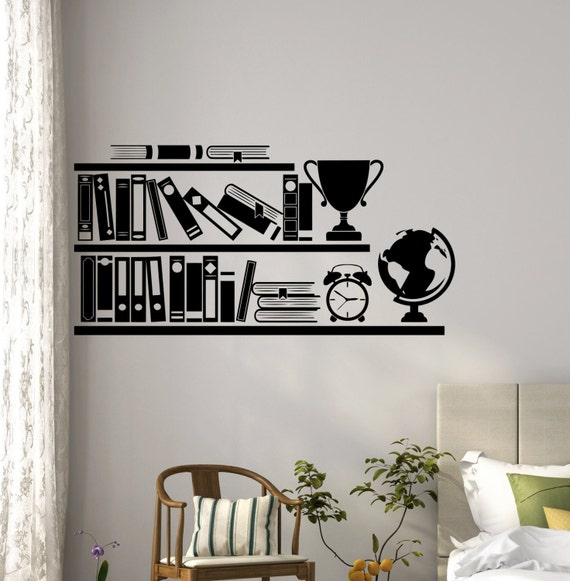 Bookshelf Wall Decal by HannahLarsenDesigns