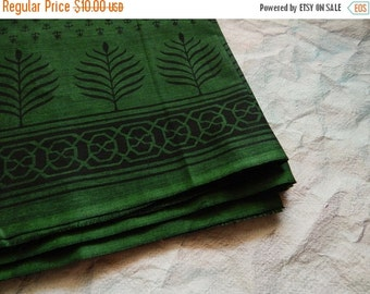 15% OFF 1 yard of South Cotton Fabric, Handwoven Fabric, Indian Cotton Fabric, Indian Fabric, Ethnic Fabric, Green Fabric