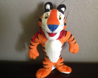 Vintage 1991 Kellogg's Tony The Tiger Plush Stuffed Toy Doll Premium Promo L4