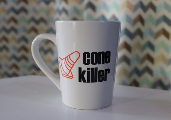 Cone Killer Coffee Mug Cup Autocross Automotive Car Gift Race Car Guy Girl Gift Track Racing Car Lover Traffic Cone