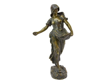 "Hans Schork Austrian Art Nouveau era Bronze sculpture ""The Sower"""