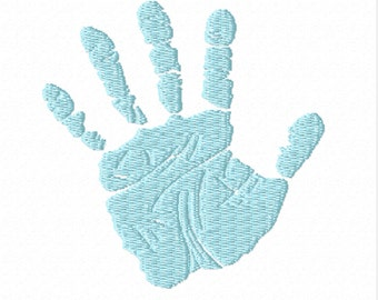 Set of Handprints- A Machine Emboidery Design with Left and Right Handprints