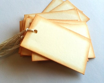Blank tags, Gift tags, Blank favor tags, Price tags, Vintage style blank tags, Packaging, Set of 30