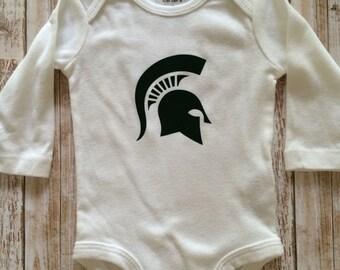Michigan State bodysuit- Michigan State baby gift- Michigan State baby- Sparty baby- Sparty baby gift- baby shower gift- baby gift