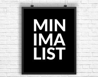 Minimalist Modern Prints, Minimalist Art, Minimalist Typography Print, Black White Wall Print, Minimalist Typography Art, Wall Art Print