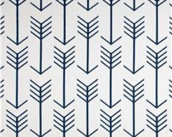 Newborn Baby/Infant Changing Pad Cover White/Navy Blue Arrows Aztec Premier Prints