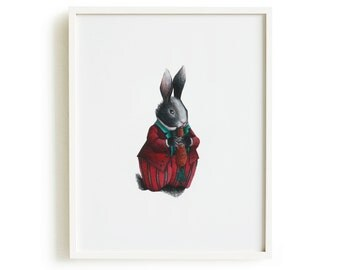 Rabbit giclée print