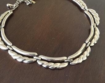 Vintage Gold Tone Monet Choker Necklace